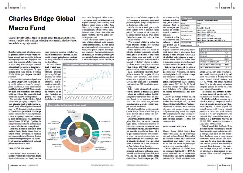 Magazín FOND SHOP: Představení fondu Charles Bridge
